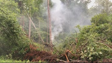Laurens County sees fiery storm damage