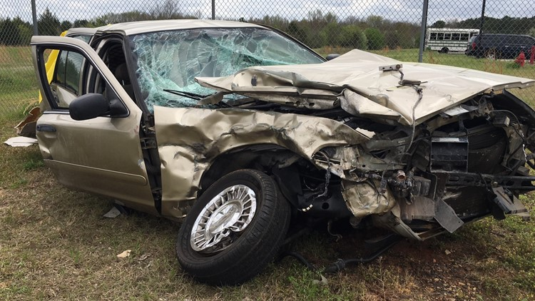 Captain Tony Trice's Car after Accident