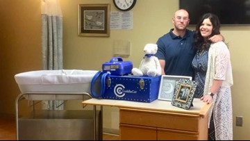 Perry couple who lost 2 children to donate 'Cuddle Cots' to local hospitals