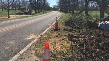 Peach County crews still cleaning up storm debris