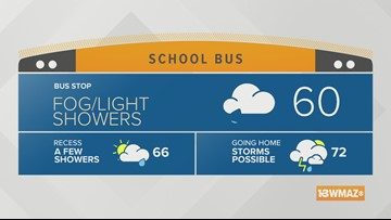 Showers and storms for Friday