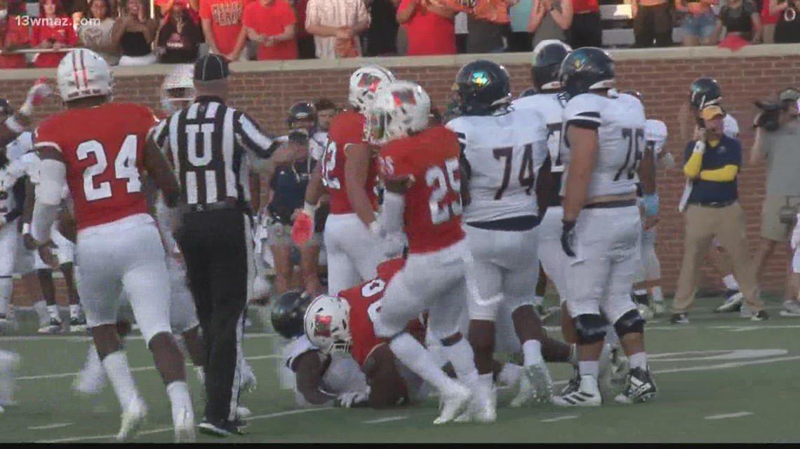 Mercer Bears open college football season with shutout win