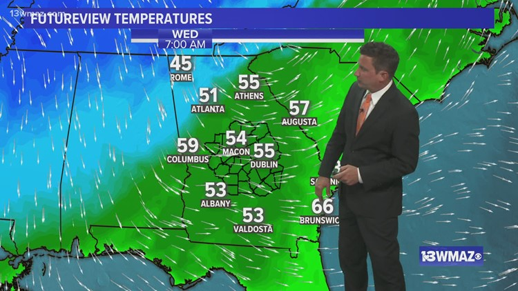 Staying dry through the work week, but cold front comes in Saturday