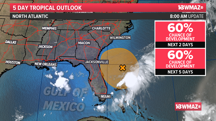 Tracking the Tropics: Disturbance near the East Coast (July 24, 5 p.m.)