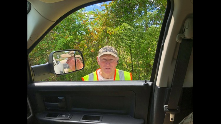 75-year-old walks 20 miles a day throughout both Putnam County and Baldwin County