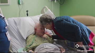 Fairview Park Hospital staff help couple celebrate their 65th wedding anniversary
