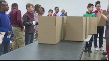 Bibb students take hands-on approach to learn about food insecurity