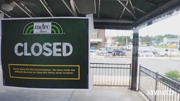 Macon Metro Diner on Northside Drive closed