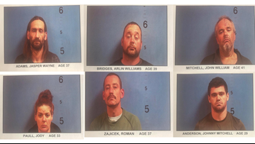 Six arrested on drug charges in Monroe County