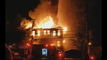 Fire at Theta Chi frat house in Milledgeville