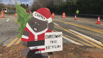 'Bring One for the Chipper' recycles Christmas trees