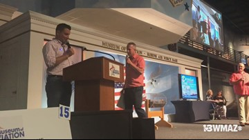 Frank and Ben host Museum of Aviation's annual auction and raffle