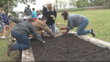 Forsyth church grows vegetables for the hungry