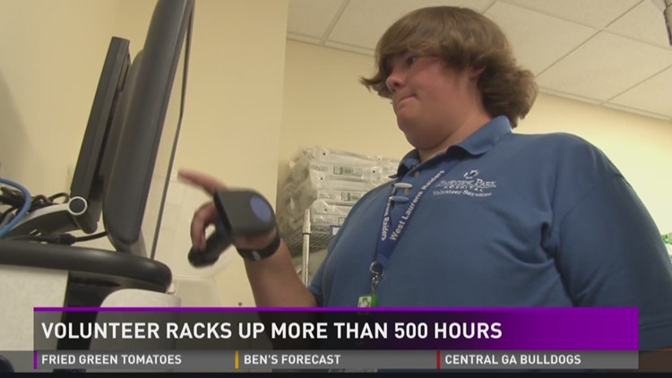 Hospital volunteer racks up more than 500 hours