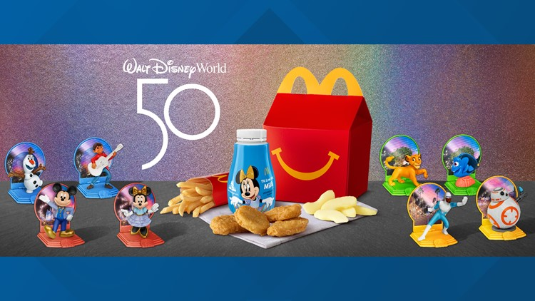 McDonald's Happy Meal toys celebrating Disney World's 50th anniversary