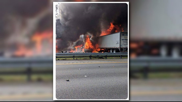At least 6 dead, 8 injured in fiery crash on I-75 in Fla.