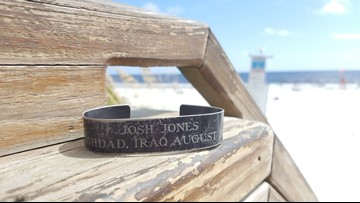 Fallen soldier's military bracelet found on Jax Beach; help us locate his family to return it