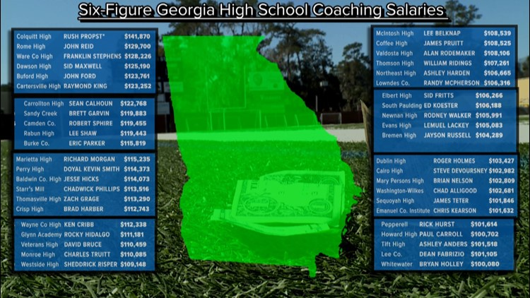 6 figure salary Georgia coaches