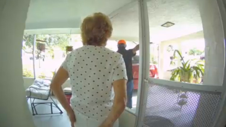 Video shows man luring 81-year-old woman out of home to make way for robber, police say