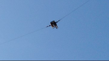 SCARY VIDEO: Rope snaps seconds before slingshot ride launches at Florida park