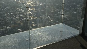 Glass skydeck shatters 103 stories high under guests' feet