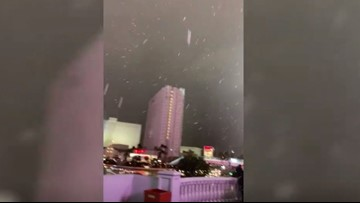 Snow falls for the first time in 10 years in Las Vegas
