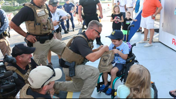 Florida boy battling terminal brain cancer gets dream of being a marine unit officer for the day