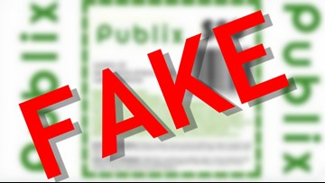 Don't click on this $80 Publix coupon. It's fake.