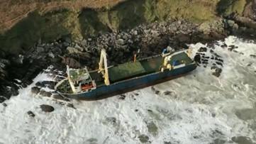 'Ghost ship' washes up on Irish coast