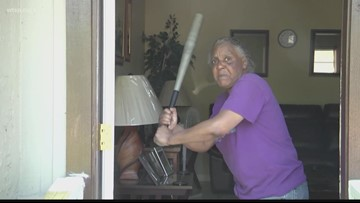 Florida woman hits 300-pound, half-naked attacker with baseball bat