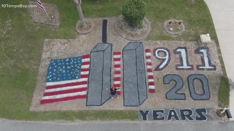 Florida man turns yard into memorial marking 20 years after 9/11 attacks
