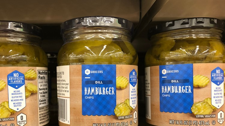 Pickles both with and without tamper-proof seal