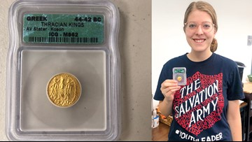 Anonymous donor drops rare $2,000 gold coin into Salvation Army Kettle