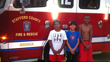 Three Boy Scouts stopped a whole row of townhouses from catching fire