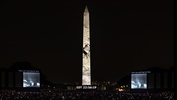 WATCH: Amazing full video of Apollo 11 moon landing projected on Washington Monument