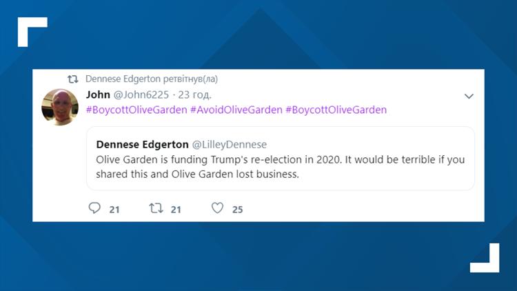 Twitter Olive Garden