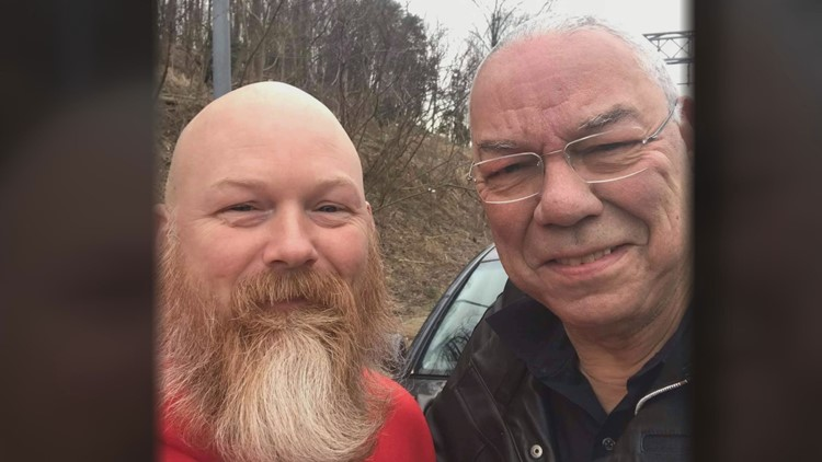 His friendship with Colin Powell was just beginning - when an Army amputee changed a tire in Washington