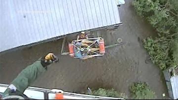 Video: Coast Guard rescues 12 trapped in Terrebonne Parish