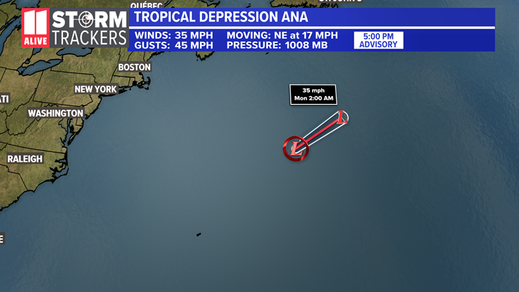 'Ana' forms in the Atlantic before the official start to hurricane season