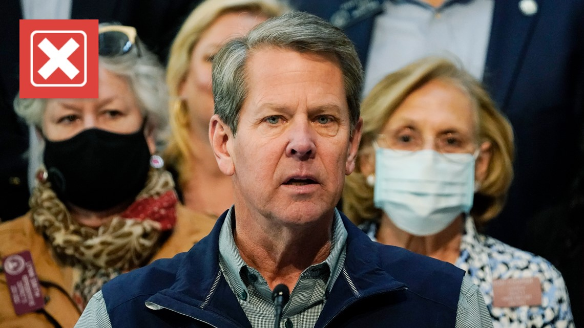 VERIFY: Gov. Kemp claimed mandating a nonexistent AIDS vaccine didn't work