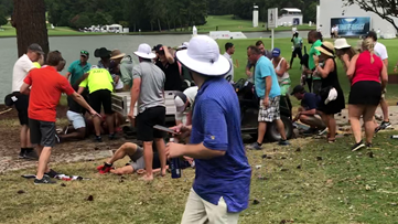 'People running everywhere, screaming' | PGA TOUR Championship fans react to lightning strike that injured six