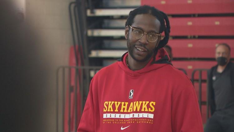 'Don't shut your dream down'   2 Chainz motivates participants at College Park Skyhawks' open tryouts