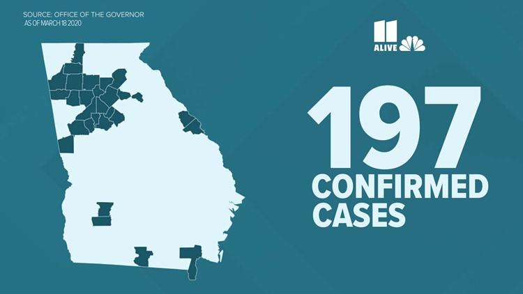 confirmed coronavirus cases in Georgia