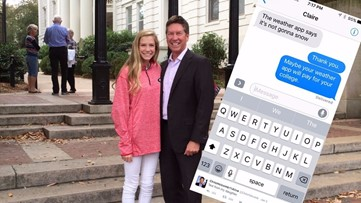 The conversation between a weatherman and his daughter that reached millions