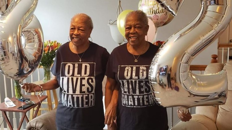 Twin sisters celebrate 82nd birthday
