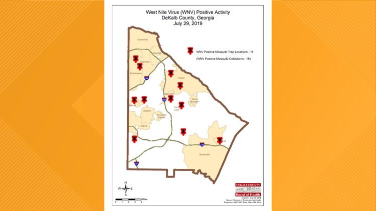 West Nile Locations - DeKalb