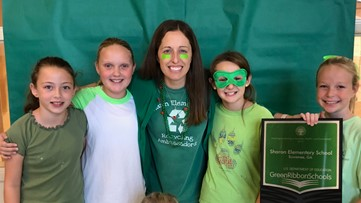 Less spooky holiday as elementary students celebrate Hallogreen