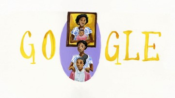 A Georgia teen's artwork will be seen billions of times today after she won the 'Doodle for Google' contest