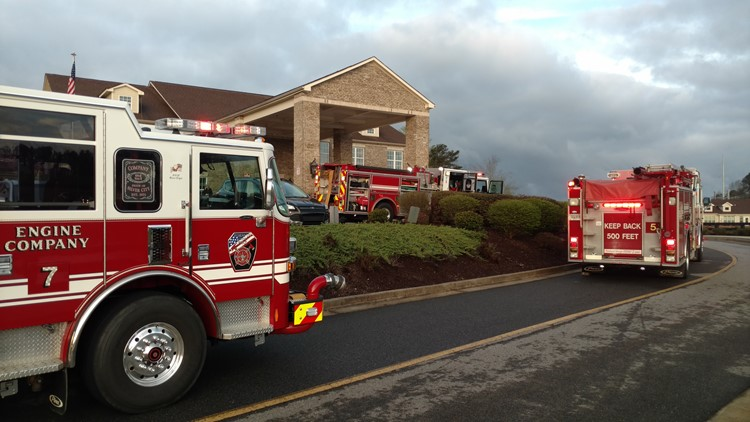 Sprinkler systems resulted in heavy water damage, authorities said.