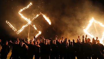 Neo-Nazi group leaves Newnan, burns swastikas in west Georgia